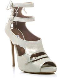 Tabitha Simmons Bailey Metallic Sandals - Lyst