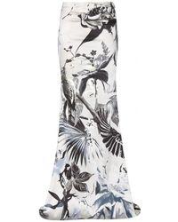 Roberto Cavalli Silk Skirt - Lyst