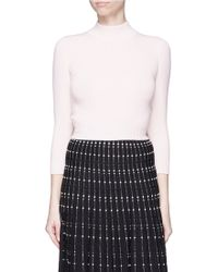 Alexander McQueen | Open Back Cropped Cashmere Sweater | Lyst