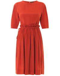 Vivienne Westwood Anglomania Pavillion Crepe Dress - Lyst