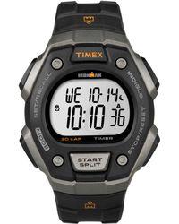 Timex® Mens Digital Ironman 30 Lap Black Resin Strap Watch 41mm T5k821u - Lyst