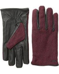 Scotch & Soda - Woolen Leather Gloves - Lyst