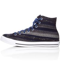 Converse | Chuck Taylor Hi In Navy/black/white | Lyst