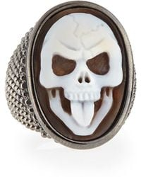 Amedeo - Thimble Skull Tongue Cameo Ring - Lyst