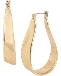 Kenneth Cole Gilded Lapis Goldtone Organic Hoop Earrings - 1 In. - Metallic