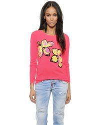 Markus Lupfer Neon Hibiscus Sequin Pullover - Neon Pink pink - Lyst