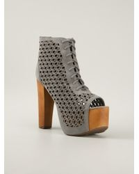 Jeffrey Campbell Cut Out Ankle Boot - Lyst