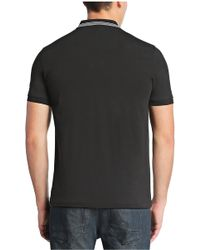 BOSS Green Regular-fit Polo Shirt In Stretch Cotton With Zip: 'philix' - Black
