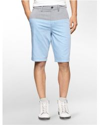 CALVIN KLEIN 205W39NYC - White Label Slim Fit Colorblock Shorts - Lyst