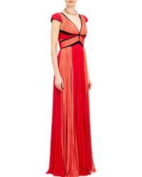 J. Mendel Pleated Chiffon Gown - Lyst