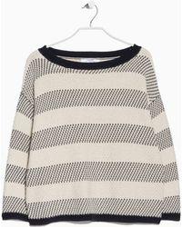Mango Mixed Knit Sweater - Lyst