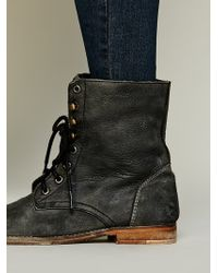 Free People Fp Collection Womens Truemay Lace Up Boot - Black