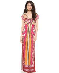 Diane von Furstenberg Ellison Maxi Dress Multi - Lyst