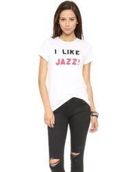Rxmance I Like Jazz Tee  White - Lyst