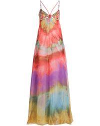 Emilio Pucci Embellished Silk Maxi Dress - Lyst