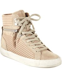 French Connection Lodlow Hightop Trainers - Natural