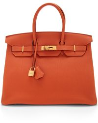 Heritage Auctions Special Collection Hermes 35cm Orange Togo Leather Birkin - Lyst