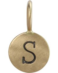 Heather Moore - 14K Yellow Gold Single Uppercase Initial Charm - Lyst