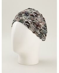 Missoni Crochet Knit Headband - Lyst