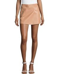 Michael Kors Mini Leather Tennis Skirt - Lyst