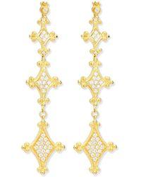 Eli Jewels - Aegean Collection 18k Diamond Drop Earrings - Lyst