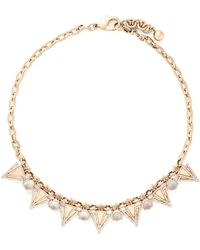 Lulu Frost 'Istria' Crystal Pavé Arrow Glass Dome Necklace - Lyst