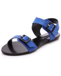 Steven By Steve Madden Britnii Flat Sandals  Blue - Lyst