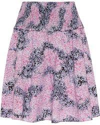 Carven Printed Poplin Skirt - Lyst