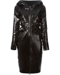 Ktz Sequined Hooded Dress - Lyst