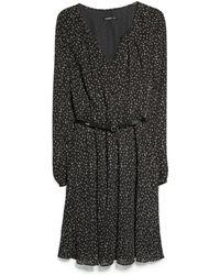 Mango Belt Printed Dress - Lyst
