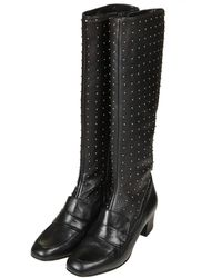 Topshop Womens Candy Studded Boots Black - Lyst