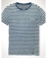 Polo Ralph Lauren Indigo-Dyed Striped T-Shirt - Lyst