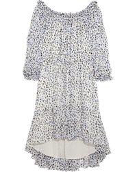 Diane von Furstenberg Camila Printed Silk-Chiffon Dress - Lyst
