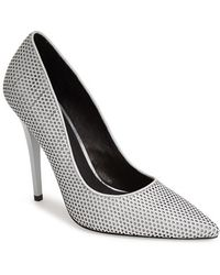 L.A.M.B. 'Bee' Perforated Leather Pump gray - Lyst