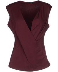 Donna Karan New York Purple T-Shirt - Lyst