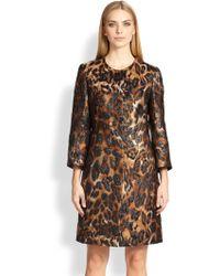 ESCADA Leopard Jacquard Coat - Lyst