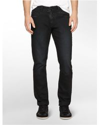 Calvin Klein Slim Fit Slick Black Wash Jeans - Lyst