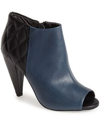 Seychelles 'Amusing' Quilted Leather Bootie - Lyst