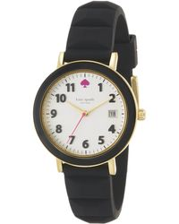 Kate Spade Metro Goldtone Stainless Steel, Enamel & Silicone Strap Watch/Black black - Lyst