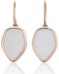 Monica Vinader - Atlantis Flint Drop White Chalcedony Earrings - Lyst