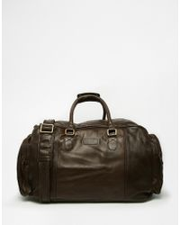 Racing Green - Leather Holdall - Lyst