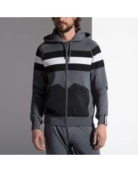 Bally Striped Lounge Hoodie Men's Jersey Hoodie In Slate - Gray