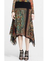 Jean Paul Gaultier Paisley Print Asymmetrical Tulle Skirt - Lyst