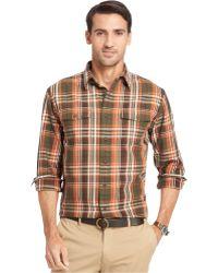 G.H.BASS - G.H. Small Plaid Heavyweight Mountain Twill Shirt - Lyst
