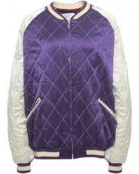 McQ Quilted Bomber Jacket - Purple