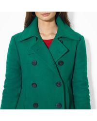 Lauren by Ralph Lauren - Doublebreasted Wool Pea Coat - Lyst