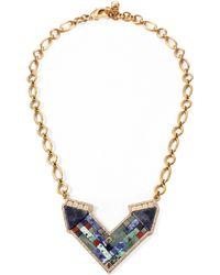Lulu Frost Petra Pendant Necklace multicolor - Lyst