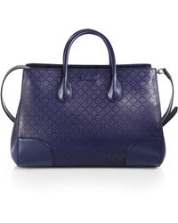 Gucci Bright Diamante Leather Top Handle Bag - Lyst