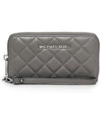 Michael Kors - Susannah Large Quilted-leather Smartphone Wristlet - Lyst
