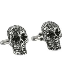 King Baby Studio Day Of The Dead Cufflinks - Metallic